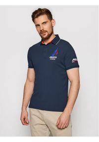 Musto Polo Sardinia 82015 Granatowy Regular Fit. Typ kołnierza: polo. Kolor: niebieski #1
