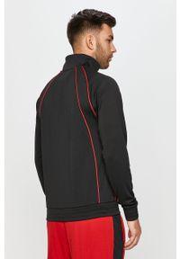 Czarna bluza rozpinana Jordan z aplikacjami, na co dzień