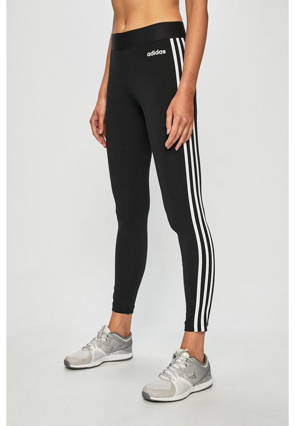 Czarne legginsy sportowe adidas Performance
