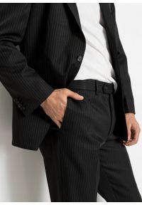 Garnitur (2 części): marynarka + spodnie bonprix antracytowy w paski. Kolor: szary. Wzór: paski. Styl: klasyczny
