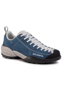Niebieskie buty trekkingowe Scarpa klasyczne, z cholewką