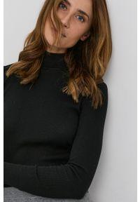 MAX&Co. - Sweter z domieszką wełny. Typ kołnierza: golf. Kolor: czarny. Materiał: wełna. Długość rękawa: długi rękaw. Długość: długie