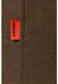 John Frank - Spodnie. Kolor: zielony. Materiał: dzianina