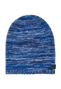 Niebieska czapka Giacomo Conti z aplikacjami
