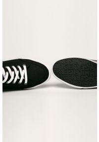 Czarne sneakersy TOMMY HILFIGER na sznurówki, z cholewką