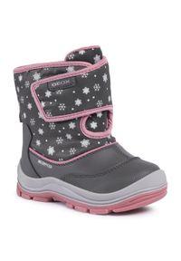 Szare buty zimowe Geox na spacer