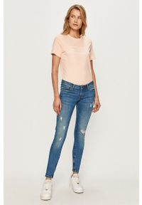 Pepe Jeans - Jeansy Cher. Kolor: niebieski