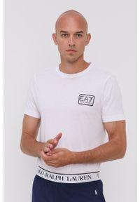 EA7 Emporio Armani - T-shirt. Okazja: na co dzień. Kolor: biały. Styl: casual