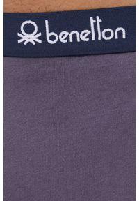 United Colors of Benetton - Spodnie piżamowe. Kolor: szary. Materiał: dzianina. Wzór: gładki