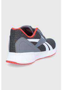 Szare buty sportowe Reebok z okrągłym noskiem, z cholewką