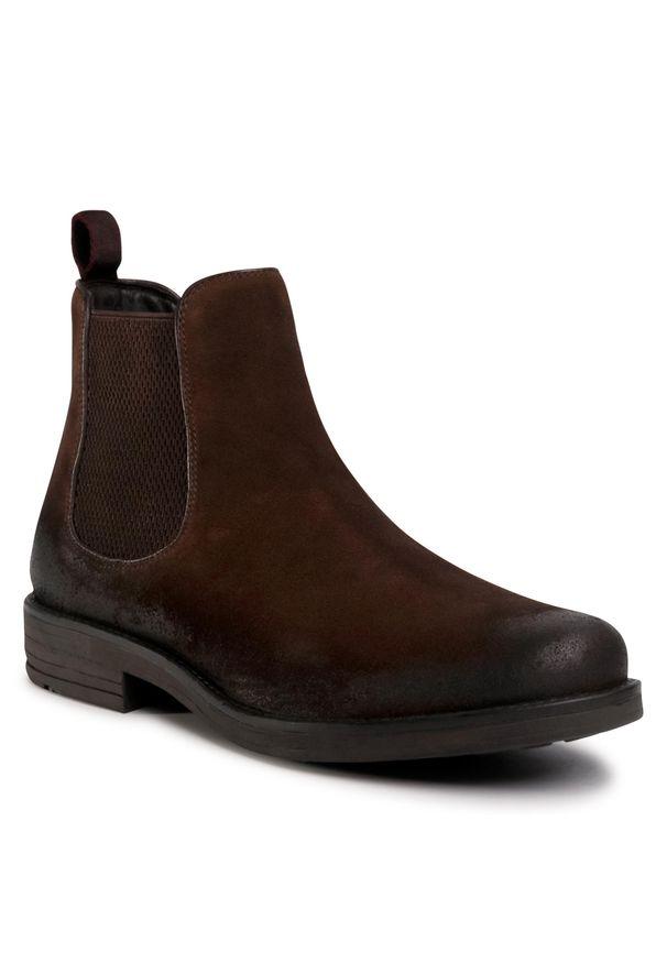 Brązowe buty zimowe Lasocki For Men z cholewką, klasyczne