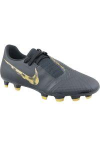 Czarne korki Nike w kolorowe wzory, z cholewką