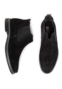 Czarne buty zimowe Bugatti casualowe, z cholewką, na co dzień