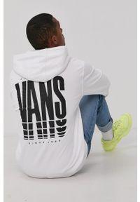 Vans - Bluza bawełniana. Okazja: na co dzień. Kolor: biały. Materiał: bawełna. Styl: casual