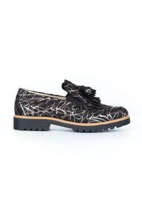 Srebrne półbuty Zapato wąskie, bez zapięcia