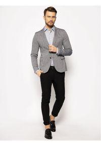 Trussardi Jeans - Trussardi Marynarka 52H00085 Szary Regular Fit. Kolor: szary