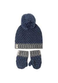 Niebieska czapka zimowa Ugg