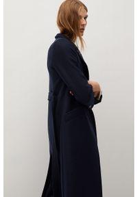 Niebieski płaszcz mango na co dzień, casualowy, bez kaptura