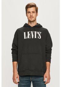 Levi's® - Levi's - Bluza. Okazja: na co dzień, na spotkanie biznesowe. Kolor: szary. Materiał: dzianina. Wzór: nadruk. Styl: casual, biznesowy