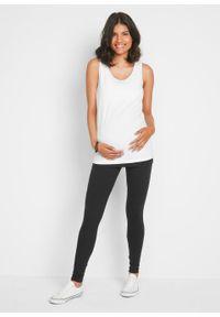 Top ciążowy + legginsy ciążowe + pasek na brzuch (4 części) bonprix czarno-biały. Kolekcja: moda ciążowa. Kolor: czarny