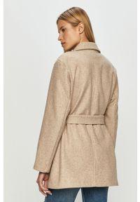 Beżowy płaszcz only klasyczny, bez kaptura
