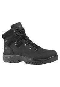 4f - Buty męskie trekkingowe 4F Alphatrek H4Z21-OBMH260. Kolor: czarny. Materiał: skóra, materiał, guma. Szerokość cholewki: normalna. Sezon: zima