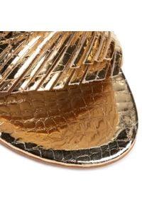 Baldowski - Klapki BALDOWSKI - D02480-3211-001 Coco Gold. Okazja: na co dzień. Kolor: złoty. Materiał: skóra. Obcas: na obcasie. Styl: casual. Wysokość obcasa: średni