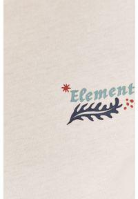Biała bluzka Element casualowa, z nadrukiem, na co dzień