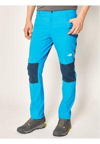 Niebieskie spodnie trekkingowe The North Face outdoorowe