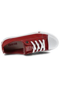 Big-Star - Trampki BIG STAR FF274089 Czerwony. Okazja: na co dzień, na spacer. Zapięcie: sznurówki. Kolor: czerwony. Materiał: jeans, materiał, guma. Szerokość cholewki: normalna. Sezon: wiosna. Styl: casual