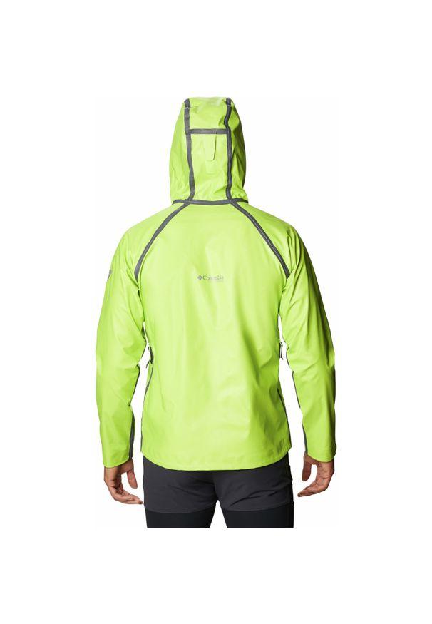 Zielona kurtka turystyczna columbia