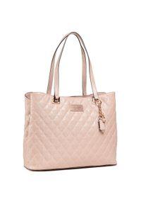 Różowa torebka klasyczna Guess skórzana