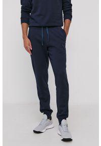 Emporio Armani Underwear - Spodnie. Kolor: niebieski. Materiał: dzianina. Wzór: aplikacja