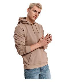 TOP SECRET - Bluza kangurka. Kolor: beżowy. Materiał: tkanina. Długość rękawa: długi rękaw. Długość: długie. Sezon: lato. Styl: sportowy