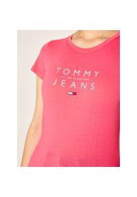 Różowy t-shirt Tommy Jeans