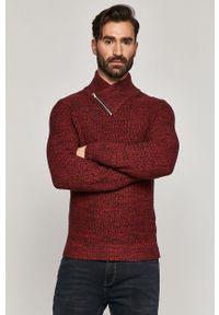 Brązowy sweter medicine krótki, na co dzień