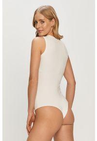 Spanx - Body modelujące V-Neck. Kolor: biały. Materiał: materiał