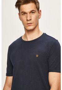 Premium by Jack&Jones - T-shirt. Okazja: na co dzień. Kolor: niebieski. Materiał: dzianina. Wzór: gładki. Styl: casual