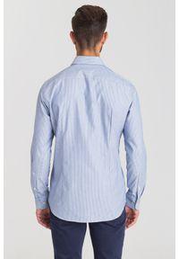 Niebieska koszula Joop! Collection biznesowa, na co dzień, na lato