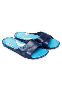 Niebieskie klapki na basen LANO młodzieżowe, na plażę