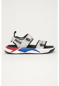 Szare sandały Puma na rzepy