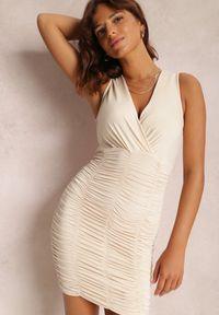 Renee - Jasnobeżowa Sukienka Denul. Kolor: beżowy