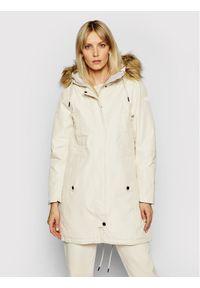 Beżowa kurtka zimowa Helly Hansen