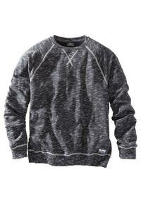 Bluza bonprix czarny melanż. Kolor: czarny. Wzór: melanż. Styl: sportowy