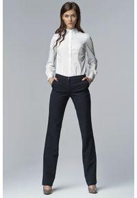 Niebieskie spodnie Nife eleganckie