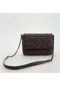 Reserved - Pikowana torebka - Brązowy. Kolor: brązowy. Materiał: pikowane