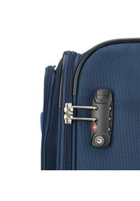 Niebieska walizka Wittchen elegancka