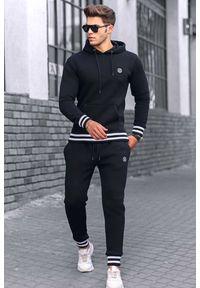 Czarna bluza IVET z długim rękawem, sportowa, długa