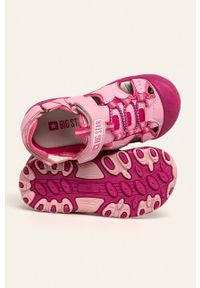 Różowe sandały Big-Star z okrągłym noskiem, na rzepy