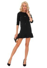 Czarna sukienka wizytowa Merribel prosta
